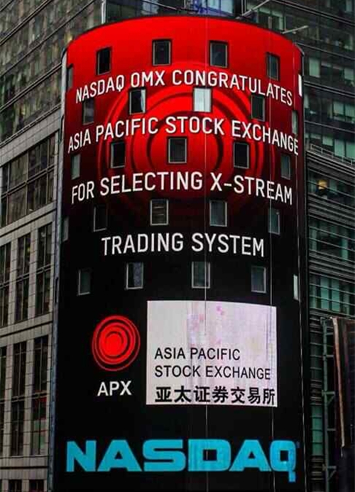 APX finishes tests of NASDAQ trading system